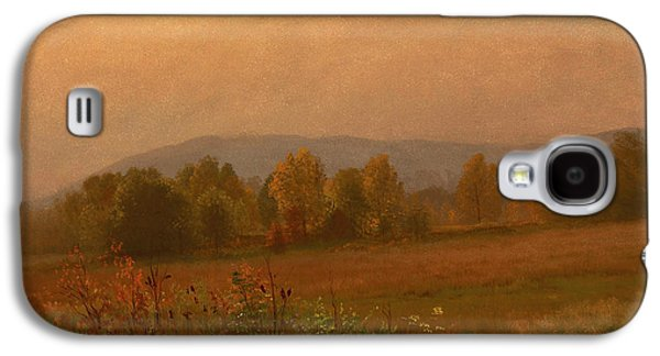 New England Snow Scene Paintings Galaxy S4 Cases - Autumn Landscape New England Galaxy S4 Case by Albert Bierstadt