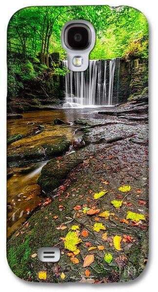 Autumn Landscape Digital Art Galaxy S4 Cases - Autumn Leaves Galaxy S4 Case by Adrian Evans