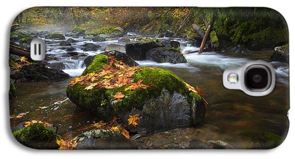 Maple Season Galaxy S4 Cases - Autumn Stream Galaxy S4 Case by Mike Dawson