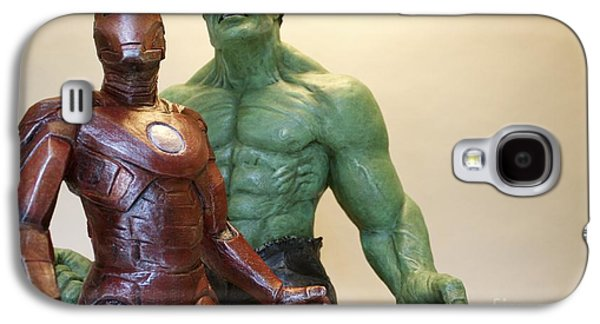 Iron Sculptures Galaxy S4 Cases - Avengers Galaxy S4 Case by Wayne Headley