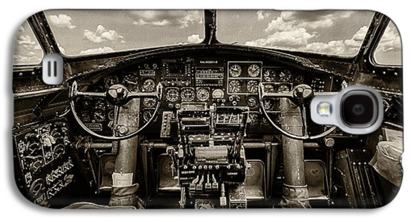 Cockpit Of A B-17 Galaxy S4 Case by Mike Burgquist