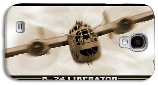 Warbird Galaxy S4 Cases - B 24 Liberator Galaxy S4 Case by Mike McGlothlen