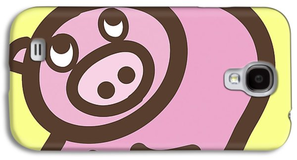 Nursery Art Galaxy S4 Cases - Baby Pig Art for the nursery Galaxy S4 Case by Nursery Art