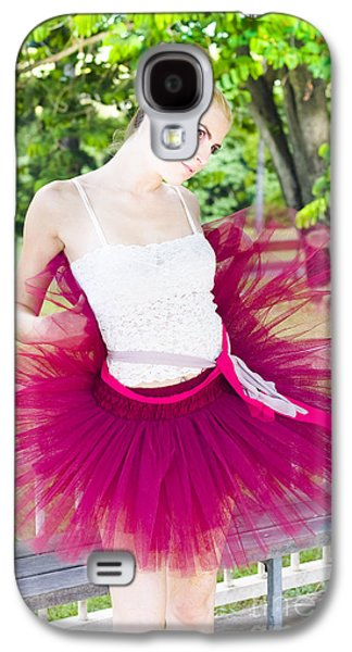 Ballerina Stretching And Warming Up Galaxy S4 Case by Jorgo Photography - Wall Art Gallery