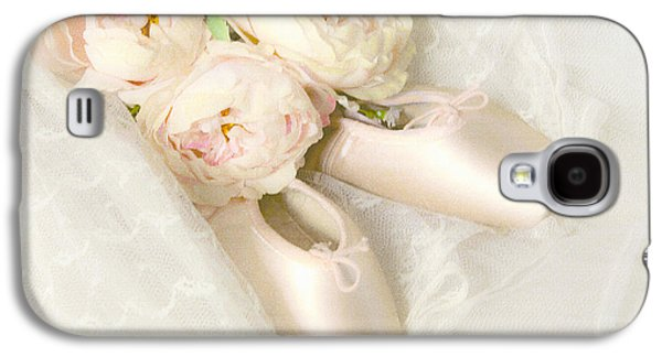 Dance Ballet Roses Galaxy S4 Cases - Ballet Shoes Galaxy S4 Case by Theresa Tahara