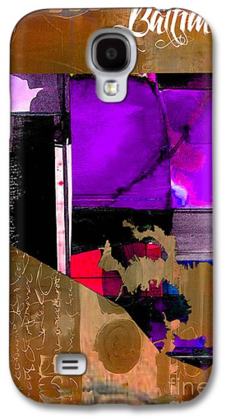 Baltimore Galaxy S4 Cases - Baltimore Map Watercolor Galaxy S4 Case by Marvin Blaine