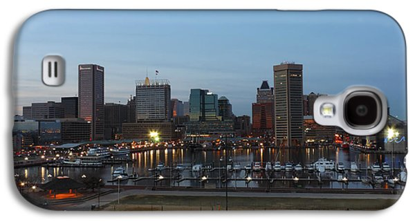 Light Galaxy S4 Cases - Baltimore Skyline before Dusk Galaxy S4 Case by Cityscape Photography
