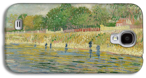 River View Paintings Galaxy S4 Cases - Bank of the Seine Galaxy S4 Case by Vincent van Gogh