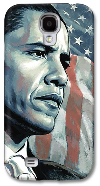 Barack Galaxy S4 Cases - Barack Obama Artwork 2 Galaxy S4 Case by Sheraz A