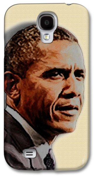 Barack Obama Galaxy S4 Cases - Barack Obama Galaxy S4 Case by Charles Thayer
