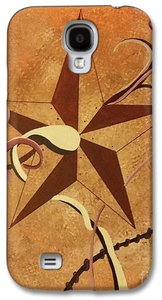 Etc. Paintings Galaxy S4 Cases - Barn Stars Galaxy S4 Case by Ems Colon