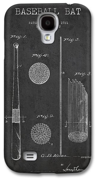 Baseball Glove Galaxy S4 Cases - Baseball Bat Patent Drawing From 1921 Galaxy S4 Case by Aged Pixel