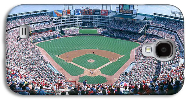 Sports Photographs Galaxy S4 Cases - Baseball Stadium, Texas Rangers V Galaxy S4 Case by Panoramic Images