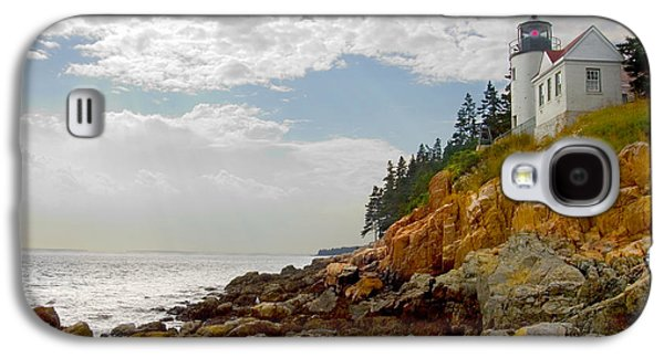 Maine Lighthouses Galaxy S4 Cases - Bass Harbor Head Lighthouse Galaxy S4 Case by Mike McGlothlen