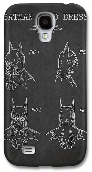 Technical Digital Art Galaxy S4 Cases - Batman Head Dress Patent Drawing Galaxy S4 Case by Aged Pixel