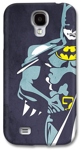 Kids Room Art Galaxy S4 Cases - Batman  Galaxy S4 Case by Mark Ashkenazi
