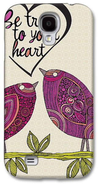 Illustration Photographs Galaxy S4 Cases - Be True To Your Heart Galaxy S4 Case by Valentina Ramos