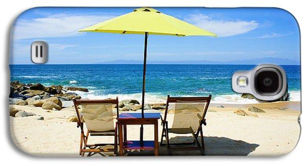 Beach Chair Galaxy S4 Cases - Beach Chairs Galaxy S4 Case by Aged Pixel