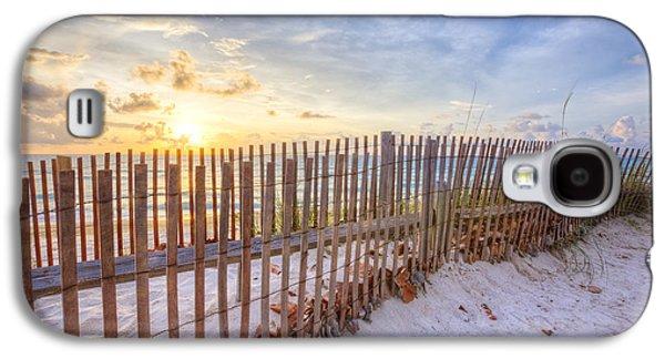 Sanddunes Galaxy S4 Cases - Beach Fences Galaxy S4 Case by Debra and Dave Vanderlaan