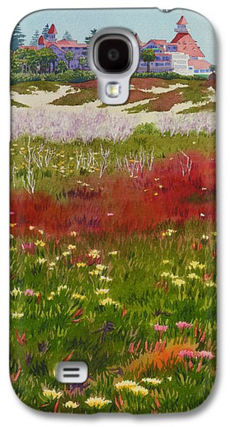 California Beach Galaxy S4 Cases - Beach Flowers at the Del Galaxy S4 Case by Mary Helmreich
