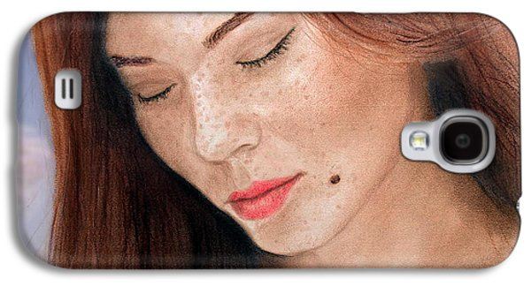 Beauty Mark Mixed Media Galaxy S4 Cases - Beautiful and Sexy Actress Jeananne Goossen III  Galaxy S4 Case by Jim Fitzpatrick