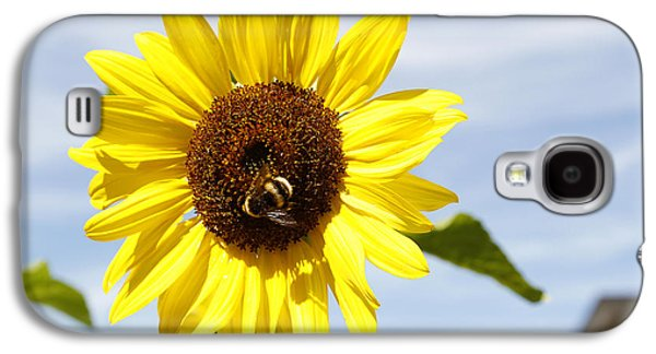 Pollinate Galaxy S4 Cases - Bee on flower Galaxy S4 Case by Les Cunliffe