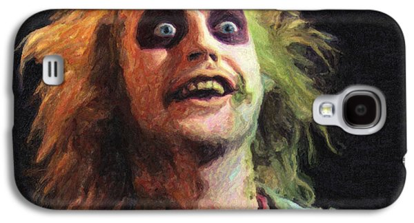 Creepy Paintings Galaxy S4 Cases - Beetlejuice Galaxy S4 Case by Taylan Soyturk
