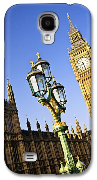Streetlight Photographs Galaxy S4 Cases - Big Ben and Palace of Westminster Galaxy S4 Case by Elena Elisseeva