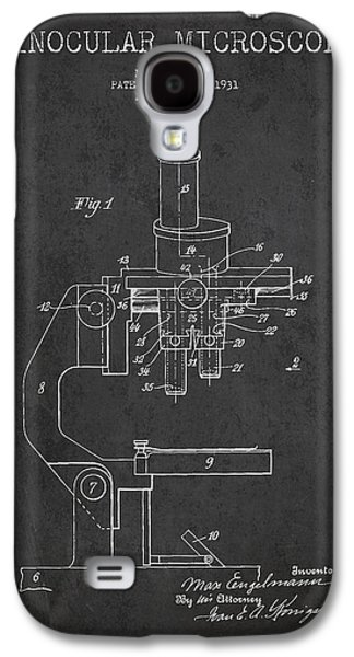Microscope Galaxy S4 Cases - Binocular Microscope Patent Drawing from 1931 Galaxy S4 Case by Aged Pixel