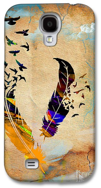 Colorful Galaxy S4 Cases - Birds Of A Feather Galaxy S4 Case by Marvin Blaine