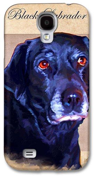 Puppy Digital Galaxy S4 Cases - Black Labrador Art Galaxy S4 Case by Iain McDonald