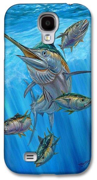 Black Marlin Galaxy S4 Cases - Black Marlin And Albacore Galaxy S4 Case by Terry Fox