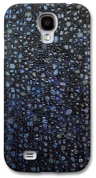 Oil Slick Galaxy S4 Cases - Black Rain Galaxy S4 Case by Donna Blackhall