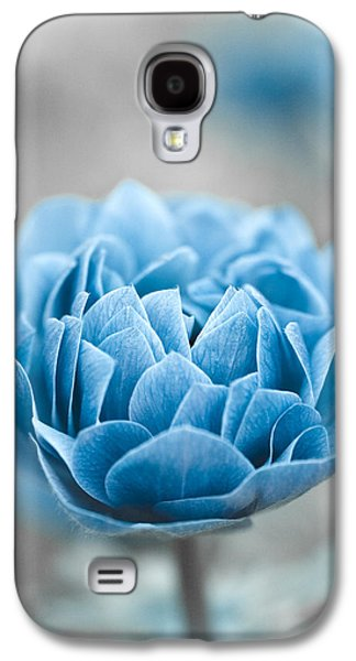 Blueish Galaxy S4 Cases - Blue Flower Galaxy S4 Case by Frank Tschakert