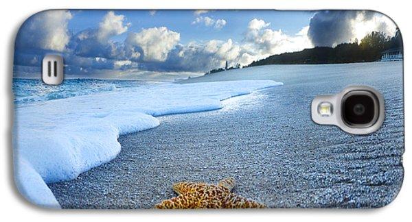 North Sea Galaxy S4 Cases - Blue Foam starfish Galaxy S4 Case by Sean Davey