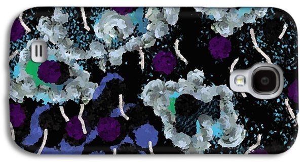 Contemporary Abstract Tapestries - Textiles Galaxy S4 Cases - Blue Shells Galaxy S4 Case by Claire Masters