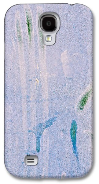 Torn Galaxy S4 Cases - Blue stone background  Galaxy S4 Case by Tom Gowanlock