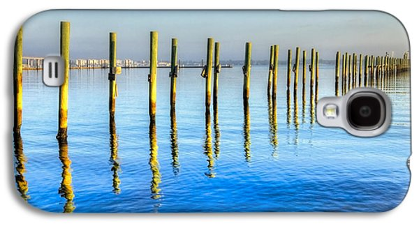 Fort Pierce Galaxy S4 Cases - Blue Tide Galaxy S4 Case by Debra and Dave Vanderlaan