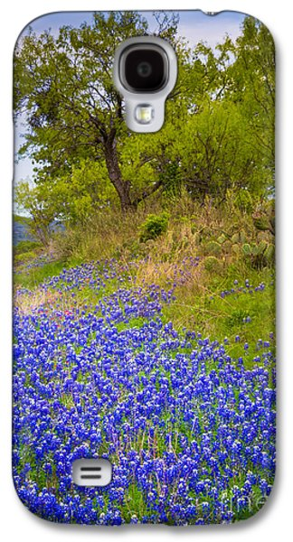 Nature Scene Photographs Galaxy S4 Cases - Bluebonnet Meadow Galaxy S4 Case by Inge Johnsson