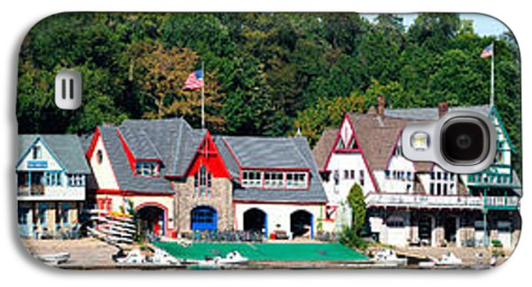 Schuylkill Galaxy S4 Cases - Boathouse Row At The Waterfront Galaxy S4 Case by Panoramic Images