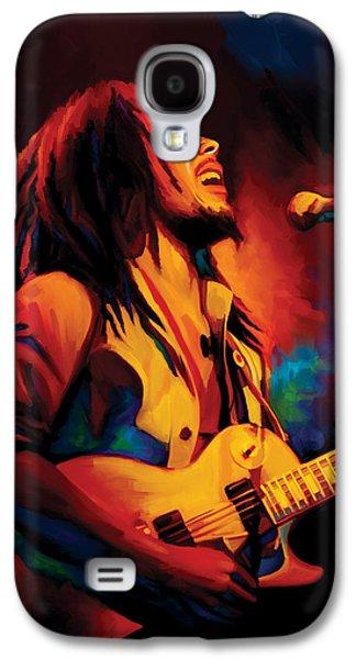 Jamaican Galaxy S4 Cases - Bob Marley Artwork Galaxy S4 Case by Sheraz A