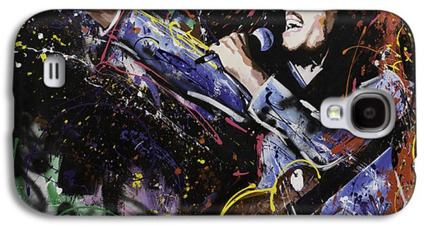 Crying Paintings Galaxy S4 Cases - Bob Marley Galaxy S4 Case by Richard Day