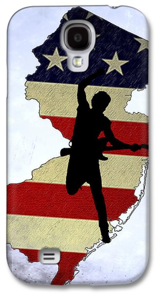 Bruce Springsteen Digital Galaxy S4 Cases - Born In New Jersey Galaxy S4 Case by Bill Cannon
