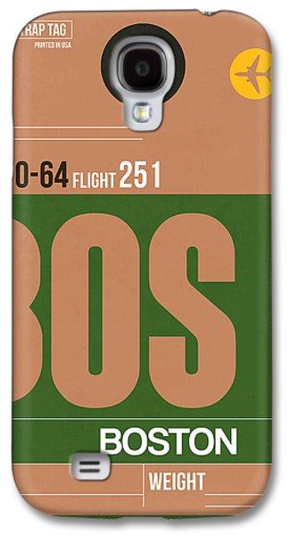 Massachusetts Galaxy S4 Cases - Boston Luggage Poster 1 Galaxy S4 Case by Naxart Studio
