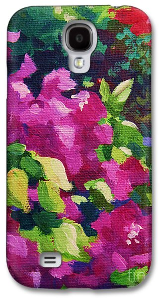 Abstract Expressionist Galaxy S4 Cases - Bougainvillea  Galaxy S4 Case by John Clark
