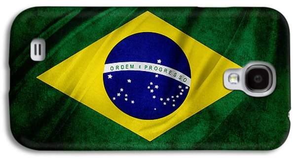 Brazilian Flag Galaxy S4 Case by Les Cunliffe