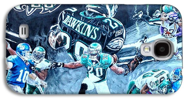 Veterans Stadium Galaxy S4 Cases - Brian Dawkins Galaxy S4 Case by Ezra Strayer