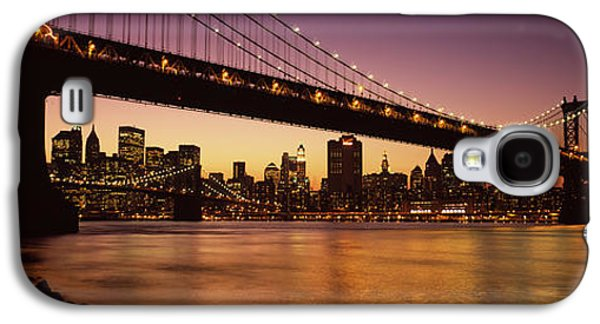 Built Structure Galaxy S4 Cases - Bridge Across The River, Manhattan Galaxy S4 Case by Panoramic Images