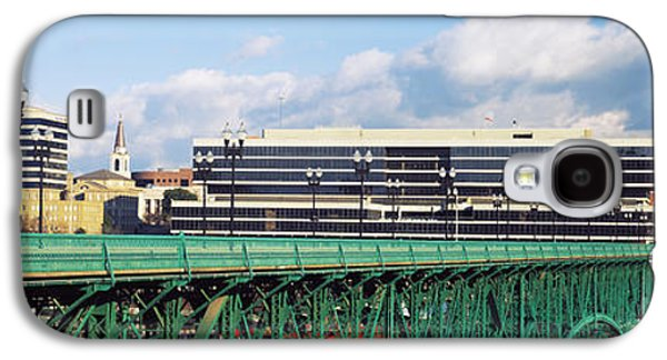 Bridge With Buildings Galaxy S4 Case by Panoramic Images