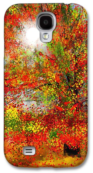 Autumn Scene Galaxy S4 Cases - Brighter Day Galaxy S4 Case by Lourry Legarde